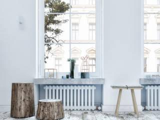Salas de estilo escandinavo de Penintdesign İç Mimarlık Escandinavo