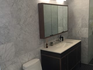 New York residential 2P Trading srl Bagno minimalista Marmo Bianco