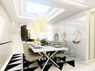 Luxurious style willa Jaroszowa Wola - Tissu. Klasyczna jadalnia od TISSU Architecture Klasyczny