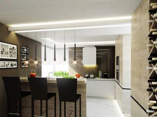 Luxurious style willa Jaroszowa Wola - Tissu. Klasyczna kuchnia od TISSU Architecture Klasyczny