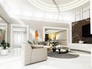 Luxurious style willa Jaroszowa Wola - Tissu. Klasyczny salon od TISSU Architecture Klasyczny