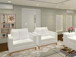 Sala de Estar e Jantar:   por DUET Arquitetura,Moderno