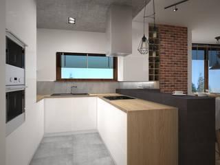 Kameleon - Kreatywne Studio Projektowania Wnętrz Industrial style kitchen