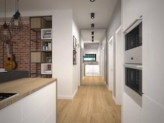 Kameleon - Kreatywne Studio Projektowania Wnętrz industrial style corridor, hallway & stairs