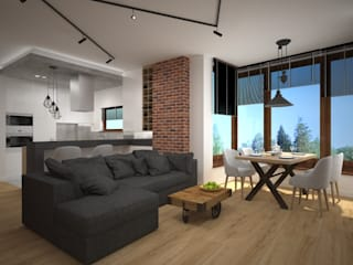 Kameleon - Kreatywne Studio Projektowania Wnętrz Living room