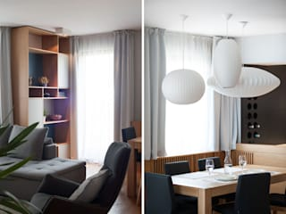 Ruang Keluarga oleh Raca Architekci, Modern