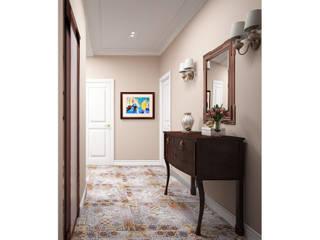 Классическая квартира для пары со стажем Коридор, прихожая и лестница в классическом стиле от Альбина Романова Классический