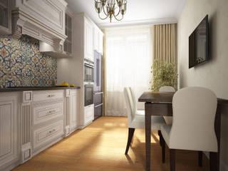 Классическая квартира для пары со стажем Кухня в классическом стиле от Альбина Романова Классический
