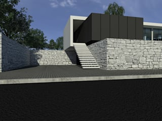 Habitação AJ: Corredores e halls de entrada  por ARTEQUITECTOS,Moderno