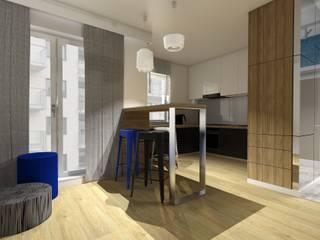 Mieszkanie dla singla | Gdańsk: styl , w kategorii Salon zaprojektowany przez Niemniej Architekci