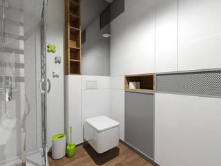 Mieszkanie dla singla | Gdańsk: styl , w kategorii Łazienka zaprojektowany przez Niemniej Architekci