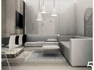Kawalerka: styl , w kategorii Salon zaprojektowany przez Niemniej Architekci