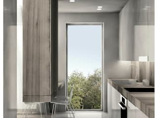 Kawalerka: styl , w kategorii Kuchnia zaprojektowany przez Niemniej Architekci