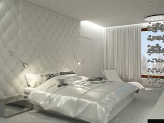 Dom Konstancin Minimalistyczna sypialnia od AFD Interiors Minimalistyczny