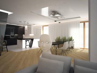 Dom Konstancin Minimalistyczny salon od AFD Interiors Minimalistyczny