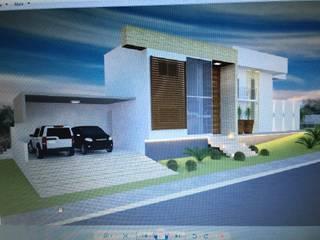 Projeto residencial : Casas  por Patrícia Diniz- arquitetura & interiores