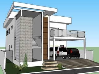 Projeto residencial: Casas  por Patrícia Diniz- arquitetura & interiores