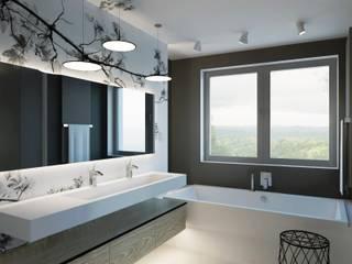 Apartament Gdynia Nowoczesna łazienka od AFD Interiors Nowoczesny