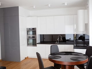 mieszkanie,ul. meissnera: styl , w kategorii Kuchnia zaprojektowany przez Kara design. Pracownia Projektowa Karolina Pruszewicz