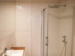 mieszkanie,ul. meissnera: styl , w kategorii Łazienka zaprojektowany przez Kara design. Pracownia Projektowa Karolina Pruszewicz