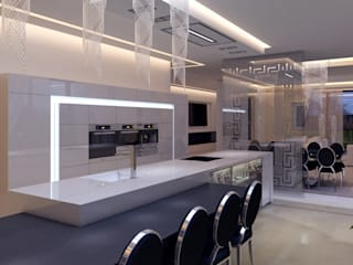 Dom Konstancin: styl , w kategorii Kuchnia zaprojektowany przez AFD Interiors