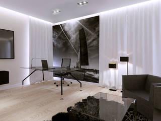 Dom Konstancin: styl , w kategorii Domowe biuro i gabinet zaprojektowany przez AFD Interiors