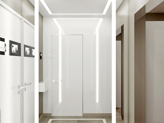 Дизайн-проект четырехкомнатной квартиры в современном стиле Гостиная в стиле кантри от Студия дизайна интерьера «Чердак» Кантри