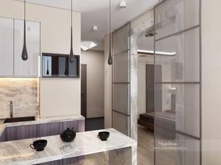 Дизайн-проект однокомнатной квартиры в стиле минимализм: Гостиная в . Автор – Студия дизайна интерьера «Чердак»