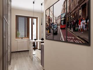 Дизайн-проект однокомнатной квартиры в стиле минимализм: Коридор и прихожая в . Автор – Студия дизайна интерьера «Чердак»