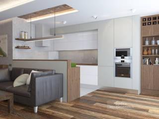 Дизайн-проект двухкомнатной квартиры в стиле лофт: Гостиная в . Автор – Студия дизайна интерьера «Чердак»