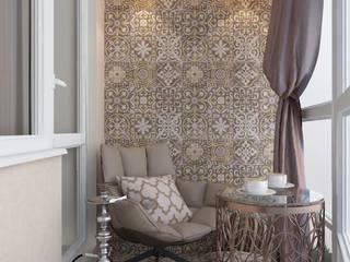 Дизайн-проект интерьера 3х-комнатной квартиры в стиле фьюжн: Коридор и прихожая в . Автор – Студия дизайна интерьера «Чердак»
