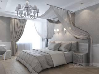 Дизайн-проект интерьера 3х-комнатной квартиры в стиле фьюжн: Спальни в . Автор – Студия дизайна интерьера «Чердак»
