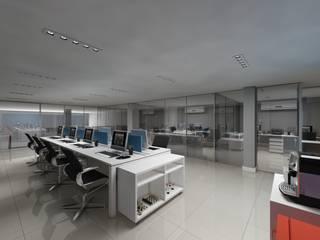 Escritório de Tecnologia Espaços comerciais modernos por Débora Pagani Arquitetura de Interiores Moderno