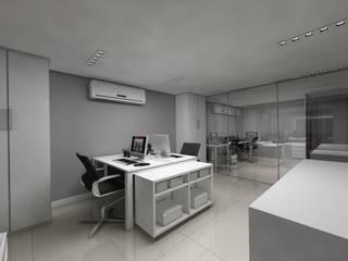Escritório de Tecnologia: Espaços comerciais  por Débora Pagani Arquitetura de Interiores,Moderno