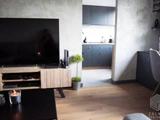 Po męsku!: styl , w kategorii Salon zaprojektowany przez Zolnik Pracownia
