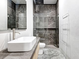 Minimalist style bathroom by La Desarrolladora Minimalist