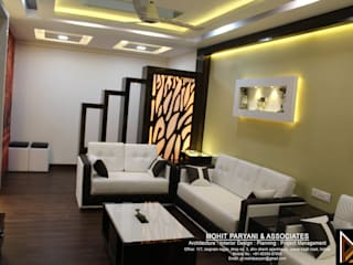 Mr. Jatin Lulla Ji interior Modern living room by MOHIT PARYANI AND ASSOCIATES Modern