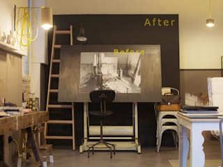 Rachele Biancalani Studio Rachele Biancalani Studio Complesso d'uffici in stile scandinavo Ferro / Acciaio Metallizzato/Argento