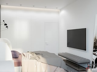 Minimalist bedroom by Samarina projects Minimalist