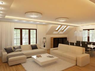 Apartament Kobyłka: styl , w kategorii Salon zaprojektowany przez AFD Interiors