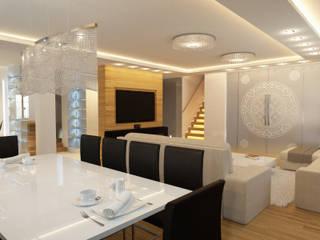 Apartament Kobyłka: styl , w kategorii Jadalnia zaprojektowany przez AFD Interiors
