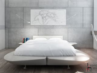 Industrial style bedroom by Samarina projects Industrial