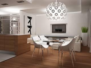 Apartament Warszawa: styl , w kategorii Salon zaprojektowany przez AFD Interiors