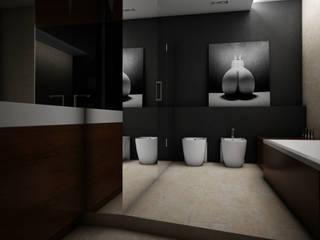 Apartament Warszawa: styl , w kategorii Łazienka zaprojektowany przez AFD Interiors