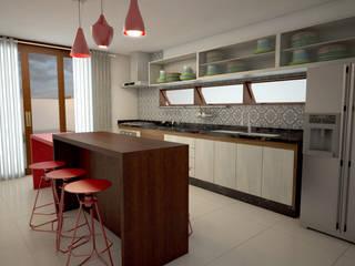 Casa do Cajueiro: Cozinhas  por Felzemburgh & Menezes arquitetura e engenharia ,Moderno