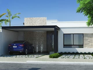 homify Modern houses Concrete White