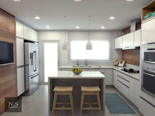 Cozinha Clara Cozinhas modernas por Natalie Stabile Arquitetura e Interiores Moderno