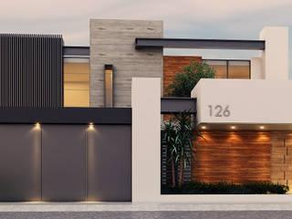 Fachada Casas modernas de Besana Studio Moderno