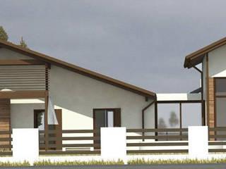 """Dom """"2DaHY"""": styl , w kategorii  zaprojektowany przez ARCHITEKT KOWALSKI BIURO PROJEKTÓW"""