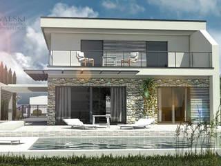 """Dom """"horiZONN"""": styl , w kategorii  zaprojektowany przez ARCHITEKT KOWALSKI BIURO PROJEKTÓW"""